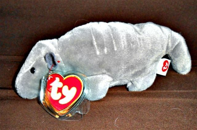 """MWMT TY BEANIE BABY """"TANK"""" THE ARMADILLO! 3 GEN. HANG TAG! 2ND GEN. TUSH TAG! #Ty"""