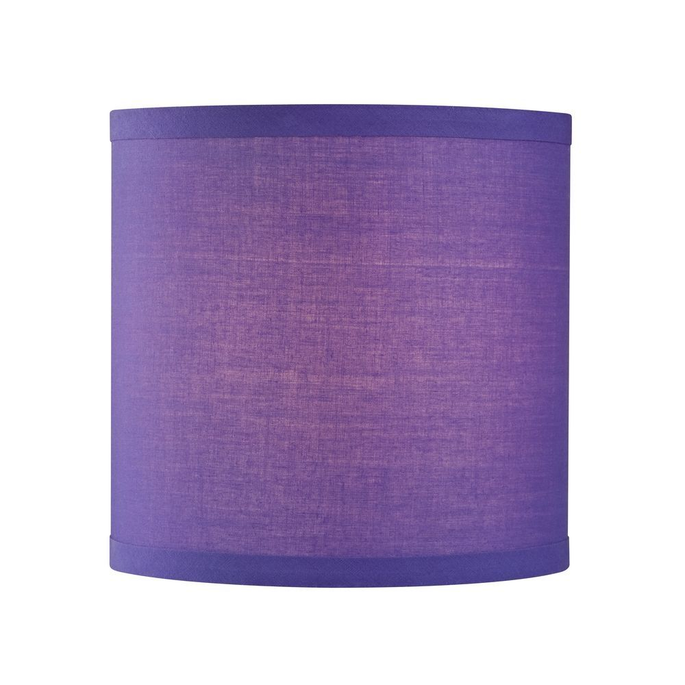 Design Classics Purple Linen Uno Drum Lamp Shade Sh9528 Purple