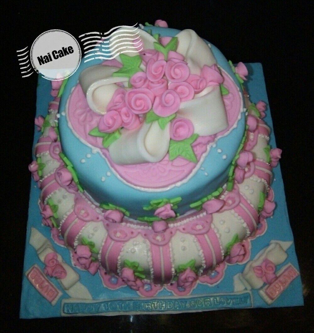 Shabby Chic Birthday Cake Birthday Cake Pinterest Birthday Cakes