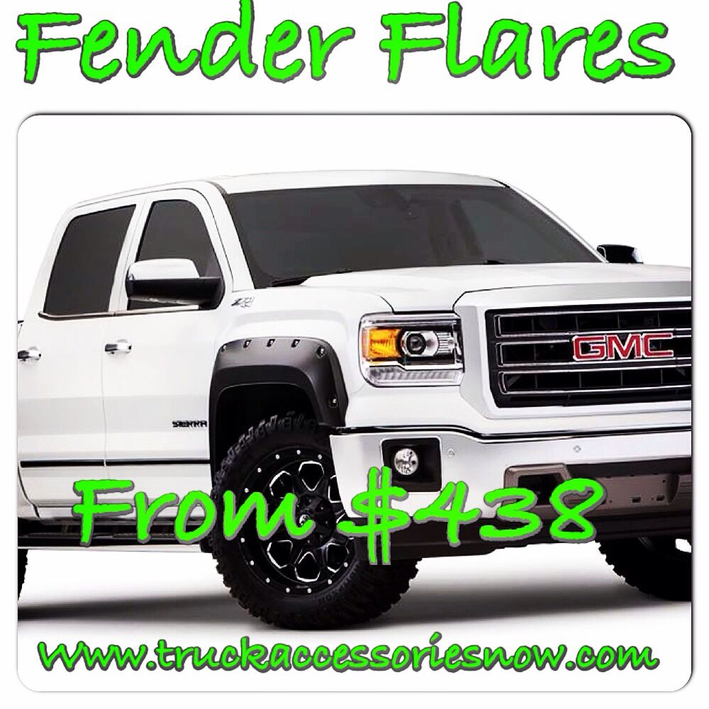 Truck accessories: fender flares for Chevy dodge ford jeep and more at truckaccessoriesnow.com
