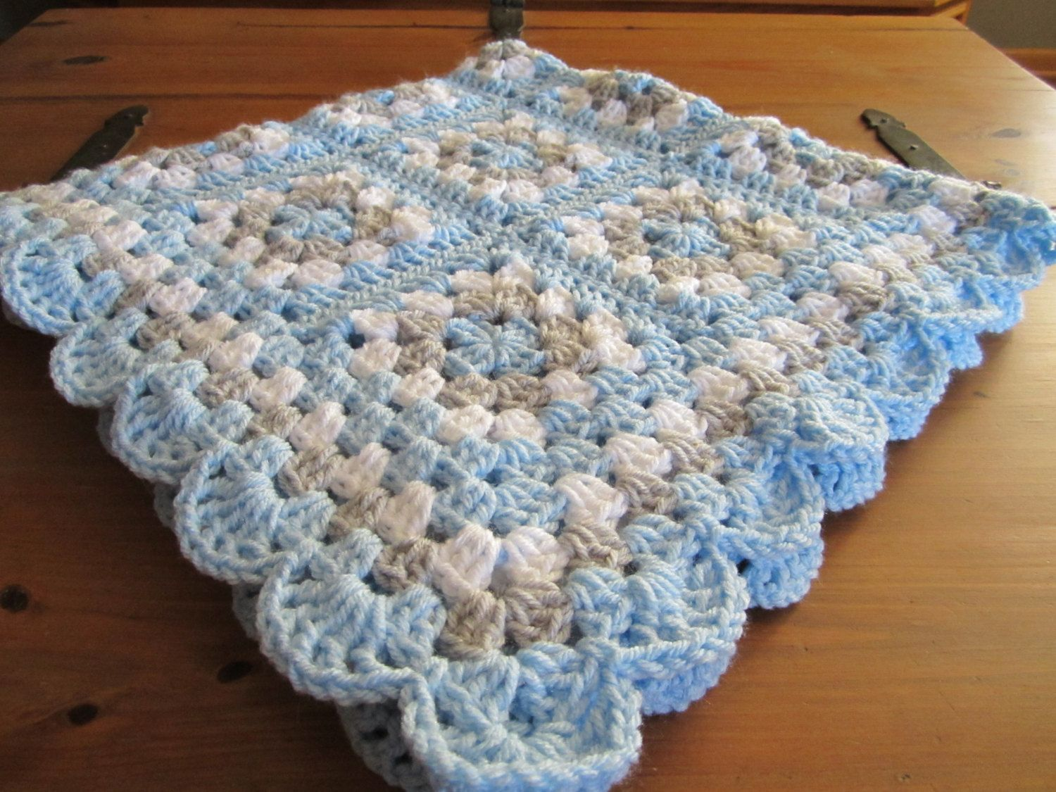 Crochet baby blanket crochet boy blanket by donnaspinsandneedles crochet baby blanket crochet baby afghan granny square handmade baby blanket new baby nursery decor ready to ship bankloansurffo Images