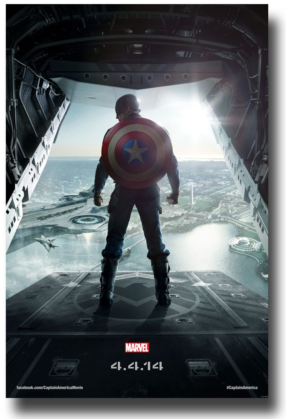 captain america 2 � winter soldier � movie poster � back