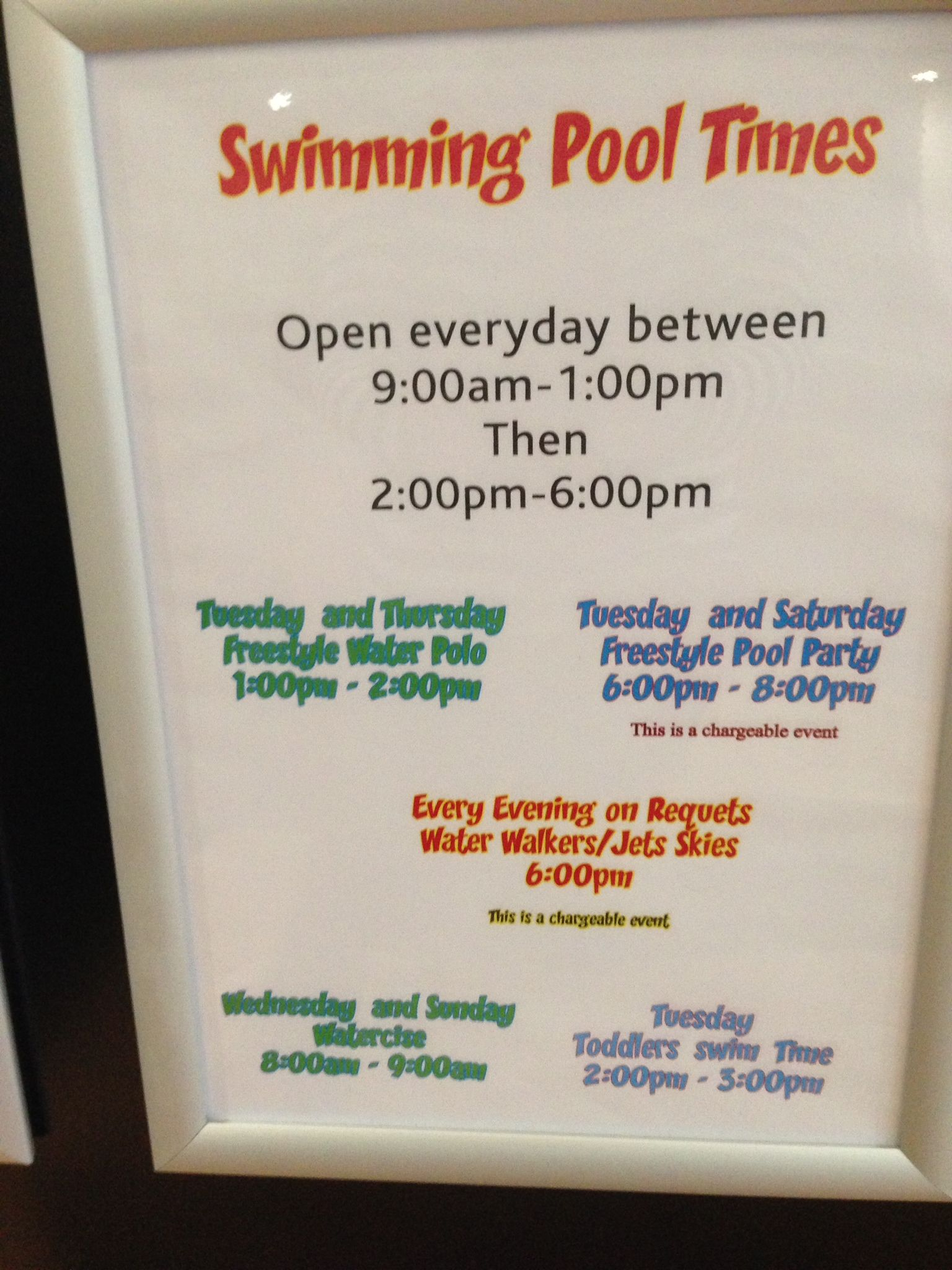 Swimming pool opening times parkdean page sandford - Bangsar swimming pool opening hours ...