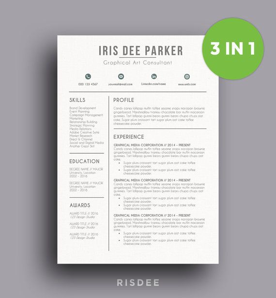 Limited Time Resume Template With Photo  Cv Template  Cover