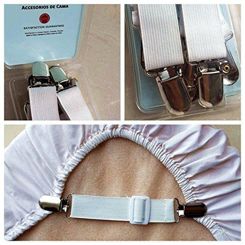 Adjustable bed sheet grippers cover suspenders set of 4 - Bedroom sets for adjustable beds ...