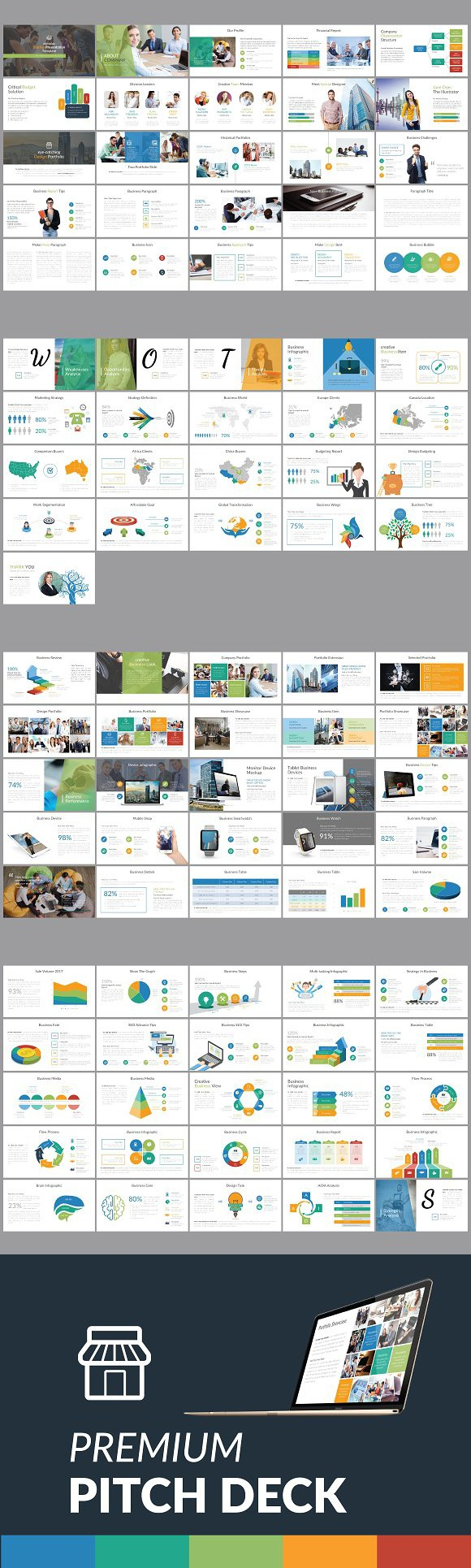 Premium pitch deck template powerpoint templates powerpoint premium pitch deck template powerpoint templates wajeb Image collections