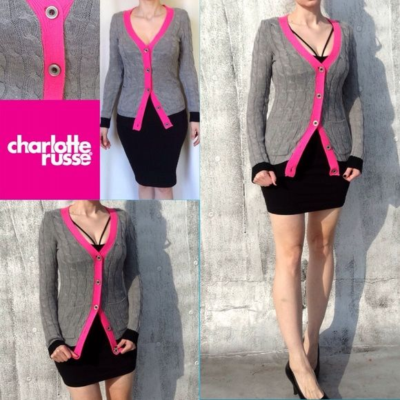 Grey-pink sweater. Sweater in very good condition. It looks like after regular wash. Charlotte Russe Sweaters