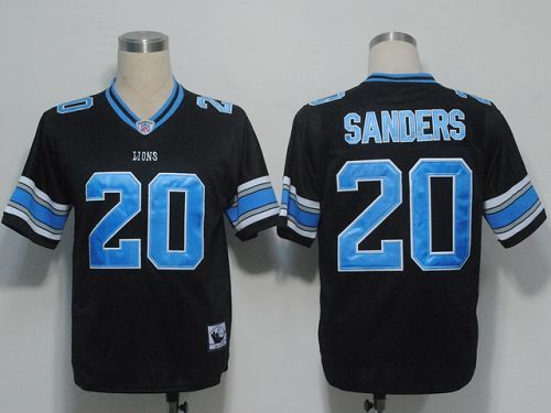 Mitchell and Ness Detroit Lions 20 Barry Sanders Black Stitched NFL Jersey  22.99 ... 972c4ad36