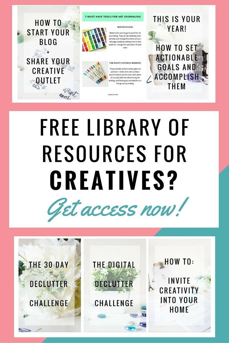 Free library of resources for creatives + writers + artists + ...