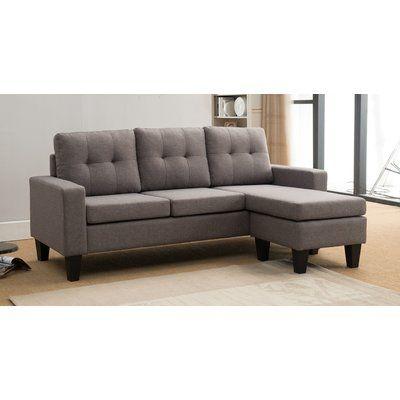Wondrous Mercury Row Briley Reversible Sectional Upholstery Light Inzonedesignstudio Interior Chair Design Inzonedesignstudiocom