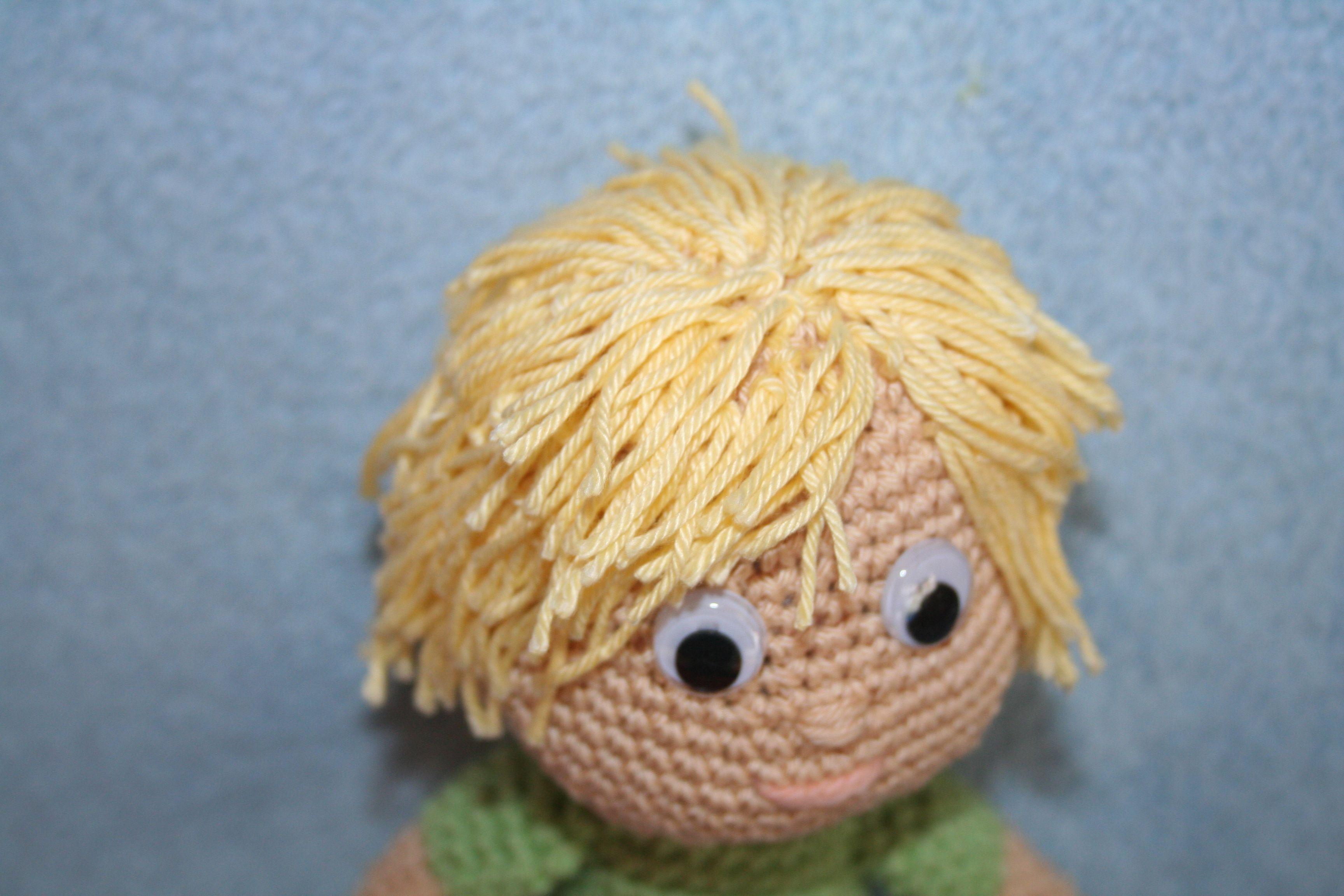 Amigurumi Boy Doll Pattern : Crochet boy doll hair detail crochet toys pinterest crochet