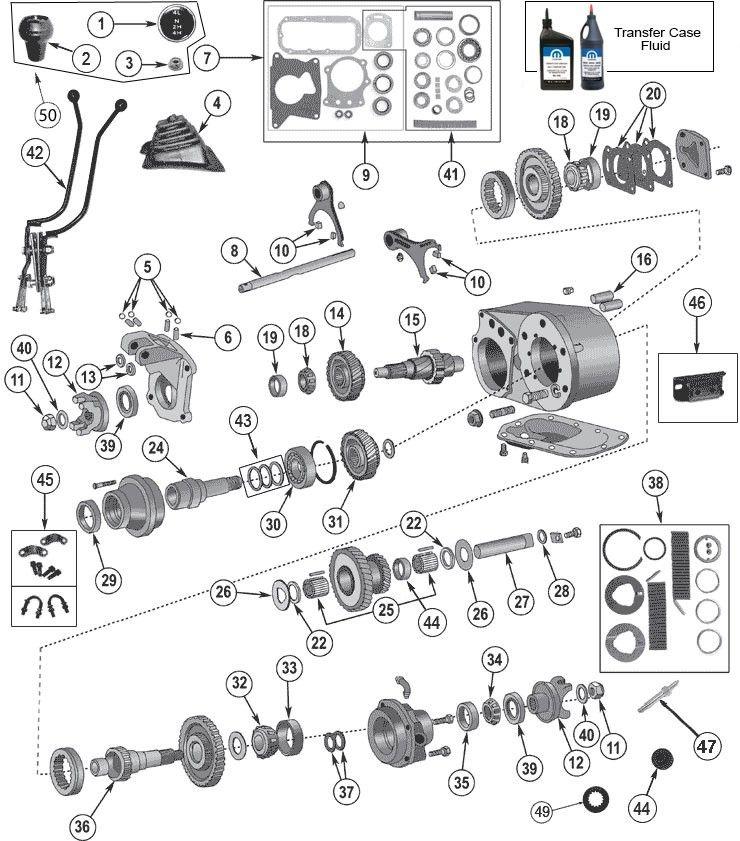 dana 300 transfer case parts for jeep cj u0026 39 s