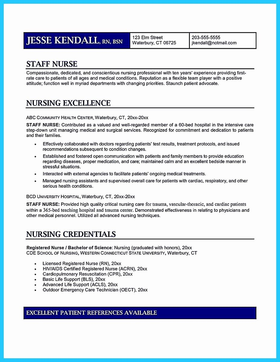 Critical Care Nursing Resume Best Of High Quality Critical