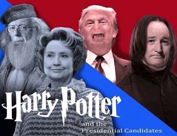 Of course Donald trump is Voldemort