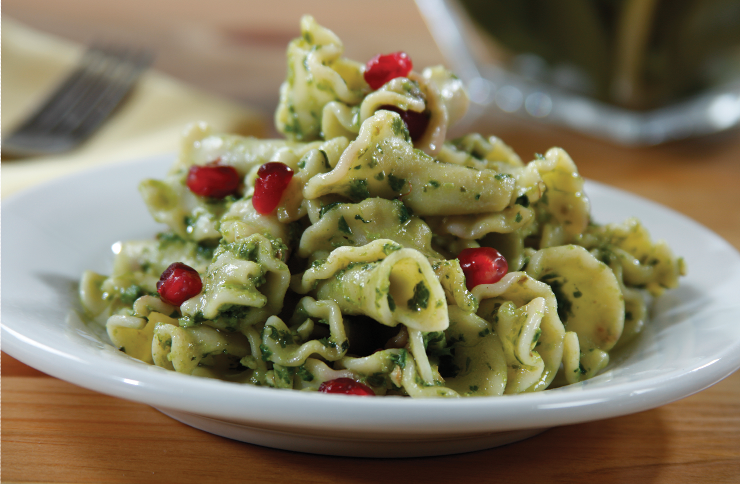 I'm bringing JOY to the table with this Barilla Campanelle with Kale, Walnuts & Parmigiano Pesto with Fresh Pomegranate recipe!