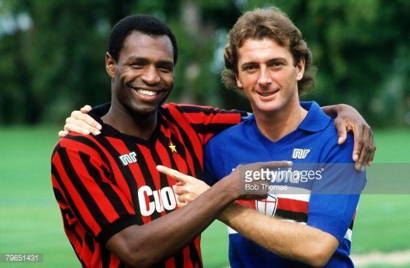 News Photo : 20th September 1983 Luther Blissett of AC Milan...