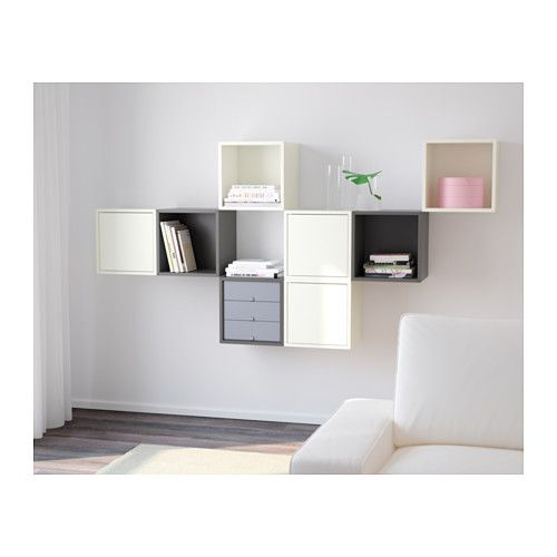 Valje Wall Cabinet With 3 Doors White Gray