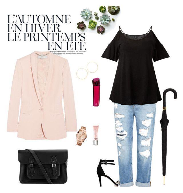 """Outfit #3"" by pascaline-az on Polyvore featuring Genetic Denim, The Cambridge Satchel Company, Jennifer Zeuner, ESCADA, FOSSIL, Été Swim, STELLA McCARTNEY, ASOS, Alexander McQueen and Victoria's Secret"