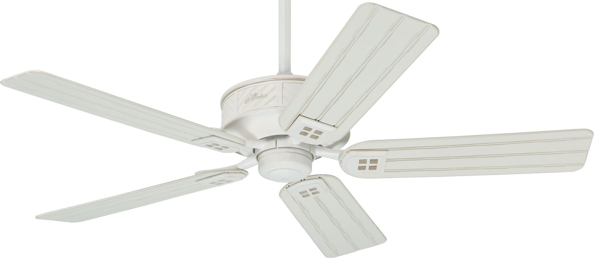 Hunter 28803 Orchard Park Distressed White Energy Star 52 Ceiling Fan Ceiling Fan Ceiling Fans Without Lights Outdoor Ceiling Fans