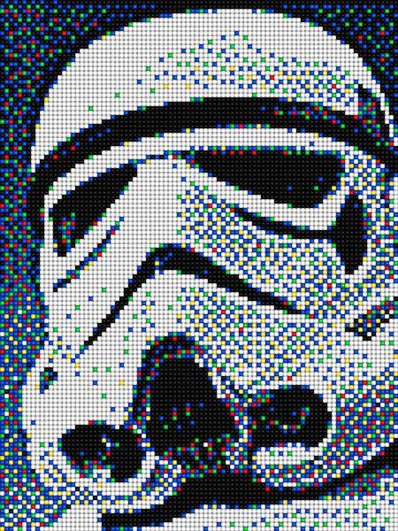 Stormtrooper Star Wars With Pixel Art Quercetti Pixel