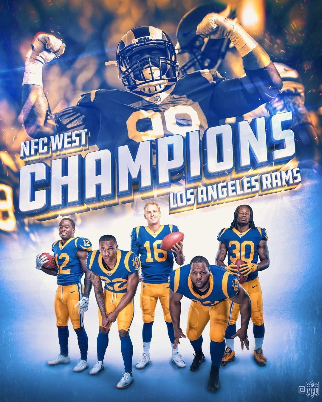 "NFL on Instagram ""rams NFC WEST CHAMPS!"" La rams, Nfc"