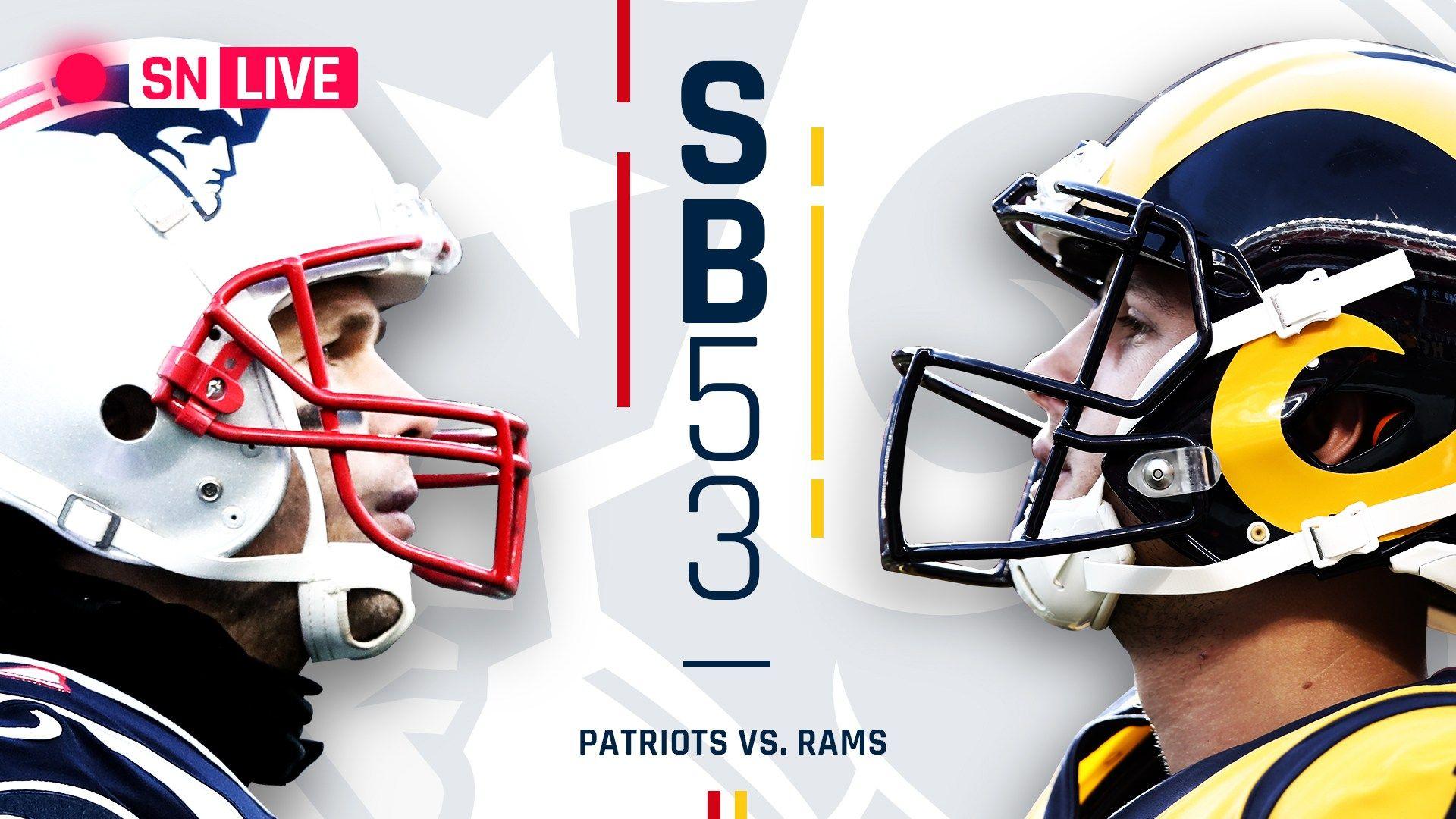 Super Bowl 53 Live Score Patriots Vs Rams Updates Highlights Results From Atlanta Patriots Super Bowl Football Helmets