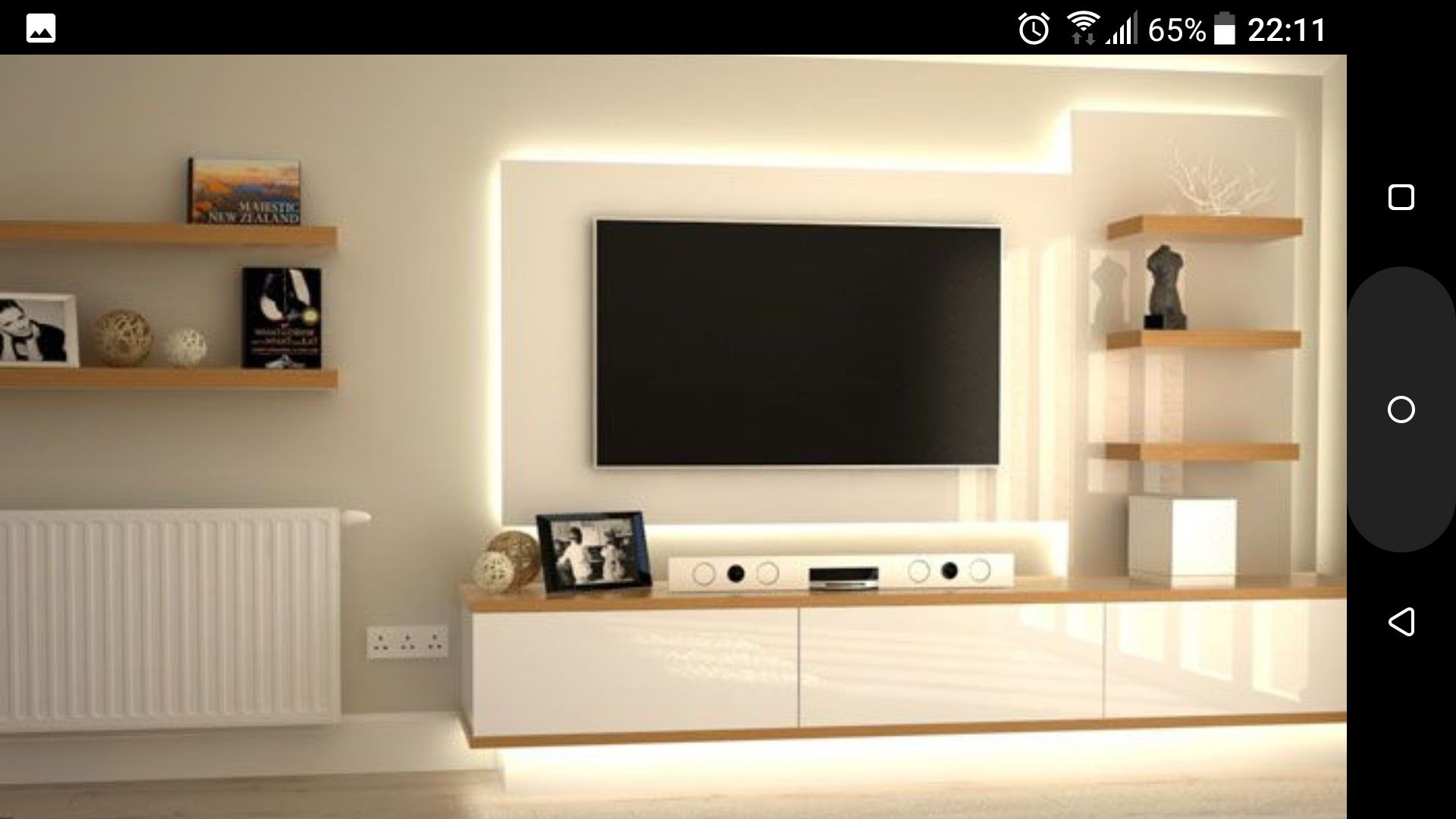 Off White Tv Meubel.Mooi Verlicht Tv Meubel Interior Tv Unit Decor Bedroom Cupboard