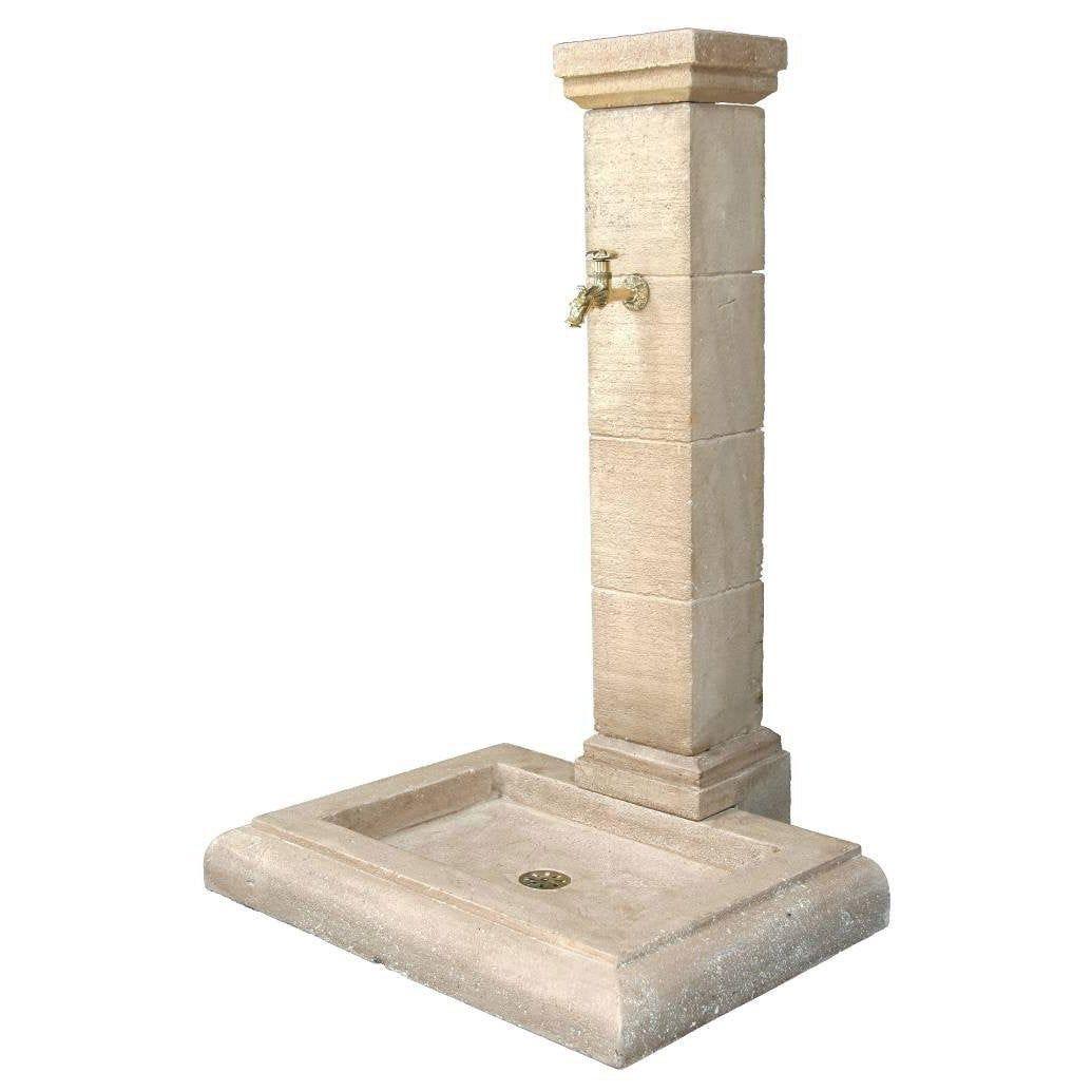 Fontaine de jardin en pierre reconstituée pierre vieillie ...