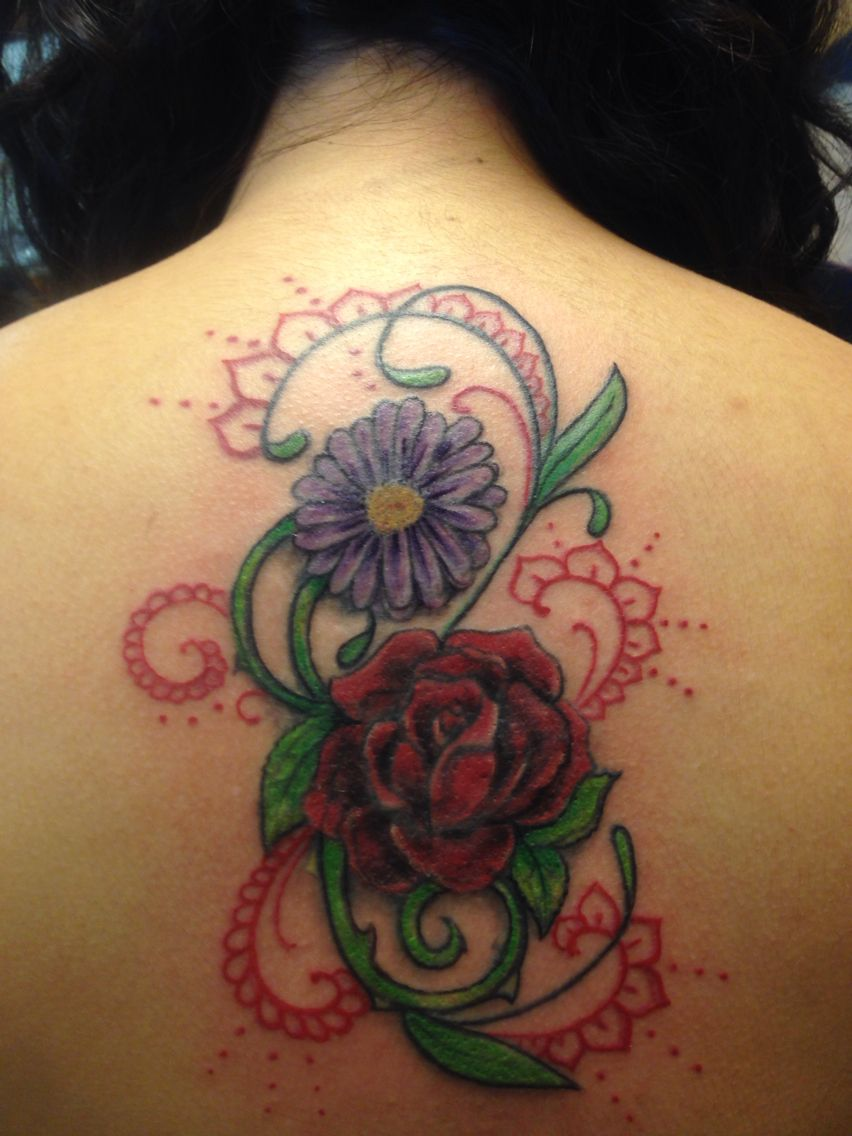 rose and daisy & lace tattoo Lace tattoo, Tattoos, Flowers