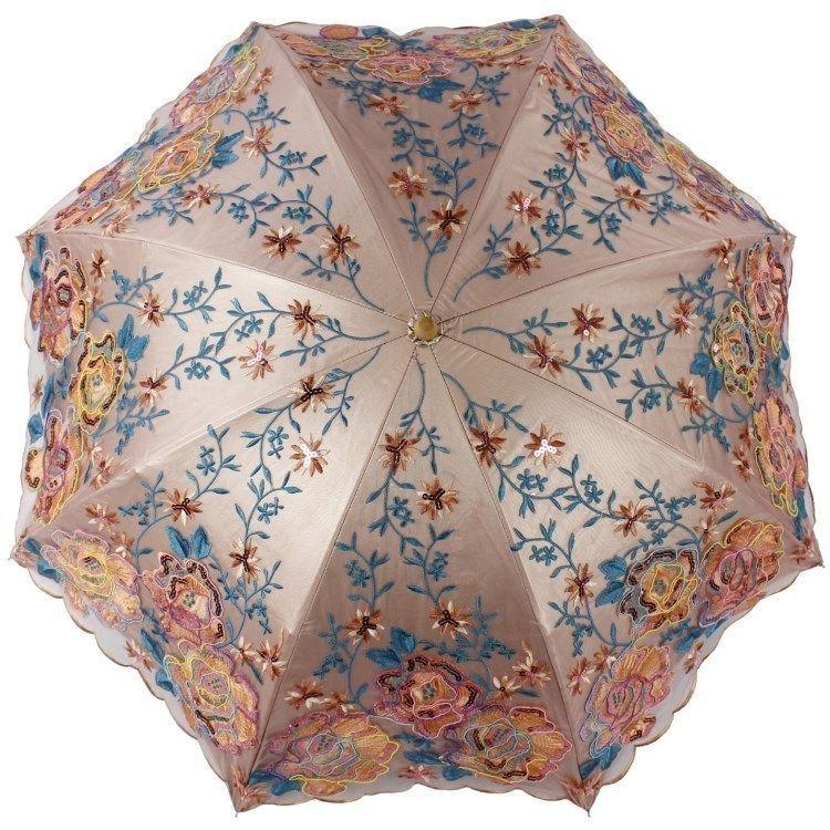 New Women Luxury Embroidery Lace Anti Uv Folding Sun Rain Parasols Umbrellas Umbrella Ladies Umbrella Vintage Umbrella