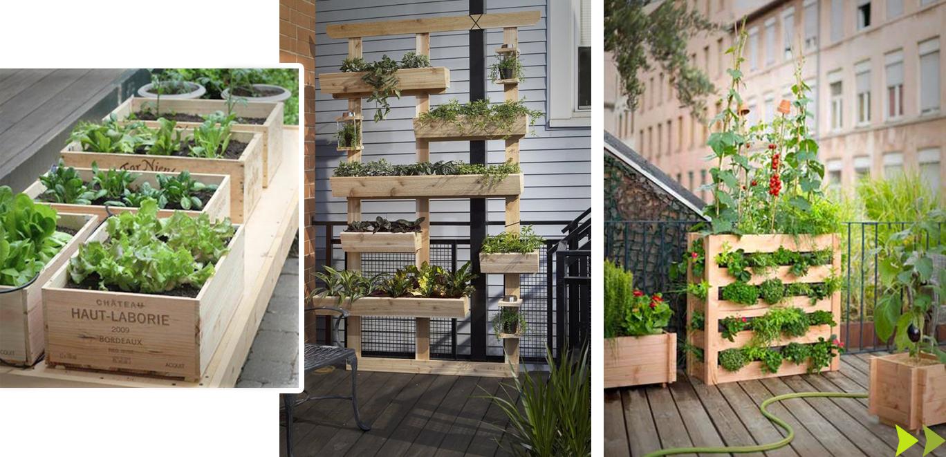 Des inspirations pour vos terrasses et balcons bois - Treillis pour terrasse ...