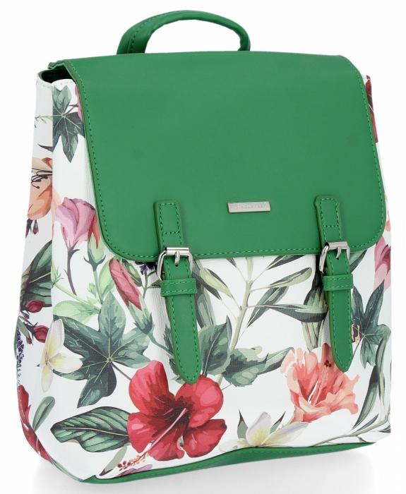 Modne Plecaczki Damskie W Kwiaty Firmy David Jones Zielony Panitorbalska Pl Bags Backpacks Fashion