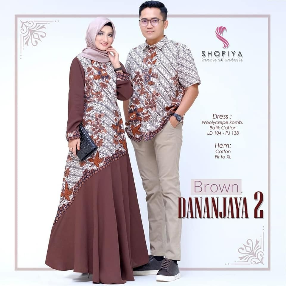 Model Baju Batik Gamis Couple Seri Dananjaya Call Order Whatsapp