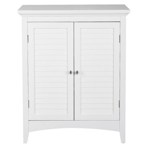 The Elegant Home Fashion Slone 2 Door Shuttered Floor Cabinet Is A Lovely Small Cabinet Mdash Per Bathroom Floor Cabinets Free Standing Cabinets Linen Cabinet