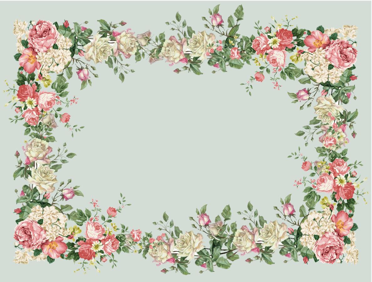 Floral frame | Beautiful Stationary | Pinterest | Flores, Etiquetas ...