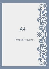 A Paper Lace Greeting Card Wedding Invitation CutOut Template