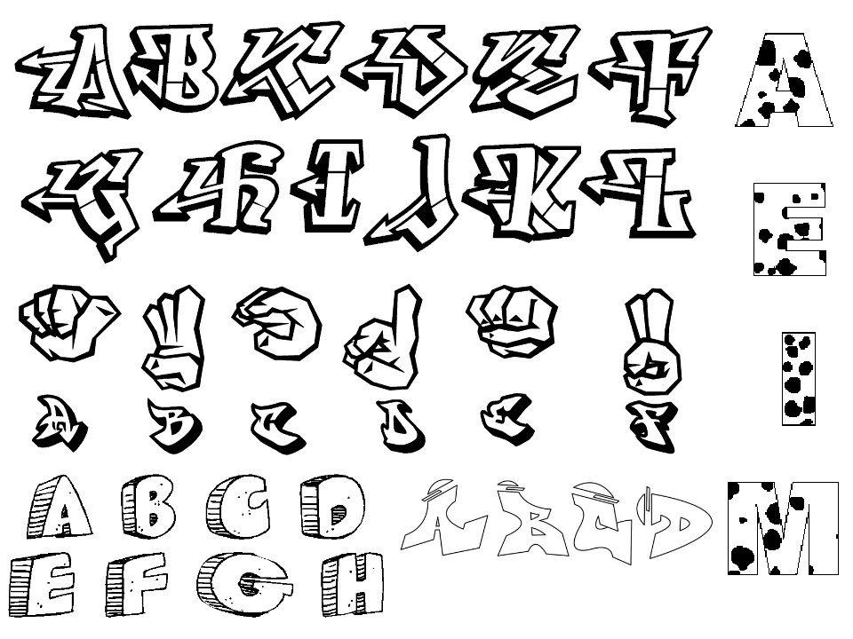 3d graffiti letters a z graffiti alphabet letters az for Single letter tattoo designs