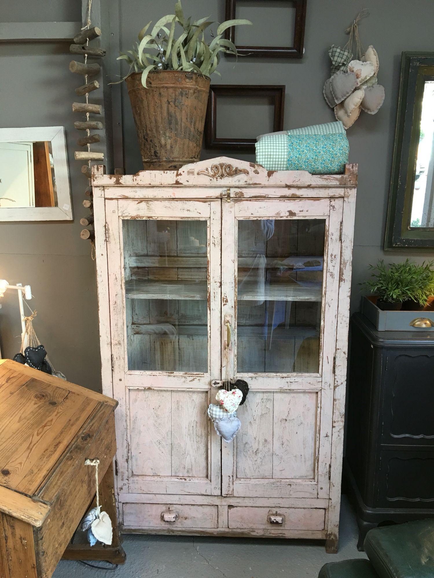 Preciosa Alacena Antigua Restaurada Nuestros Muebles Restaurados  # Muebles Reformados