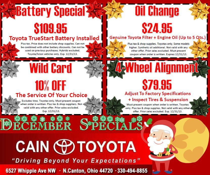 Santa brought service coupons just for you! Schedule your