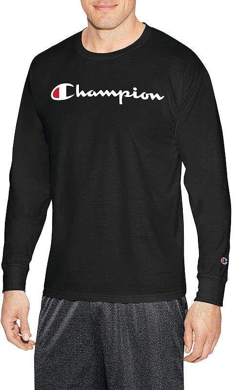0cd7736b Champion Graphic Jersey Long Sleeve Crew Neck T-Shirt-Athletic | Po ...