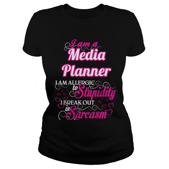 I Love Media Planner  Sweet Heart T Shirt  Job List  TShirt