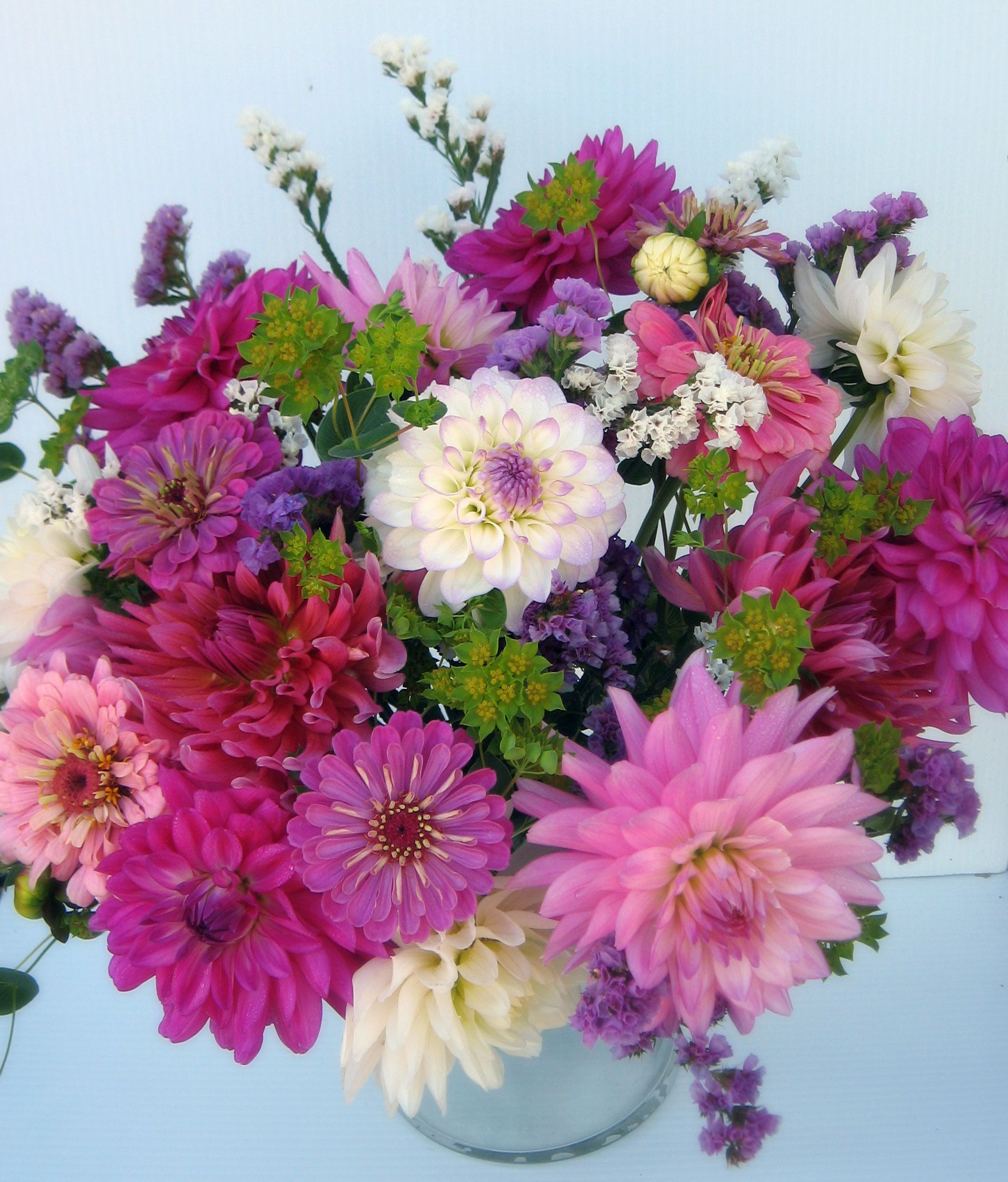 Special Order Bouquet Of Dahlias September Flowers From