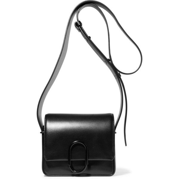 3.1 Phillip Lim Alix mini leather shoulder bag (£700) ❤ liked on Polyvore featuring bags, handbags, shoulder bags, black, hand bags, mini crossbody, mini crossbody purse, man bag and leather crossbody purses