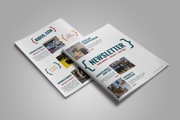 Newsletter InDesign Template By Jan Stblo On Creative Market Indesign Magazine Templates Layout