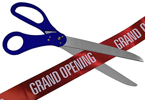 "36/"" Black//Silver Ceremonial Ribbon Cutting Scissors for Grand Opening"