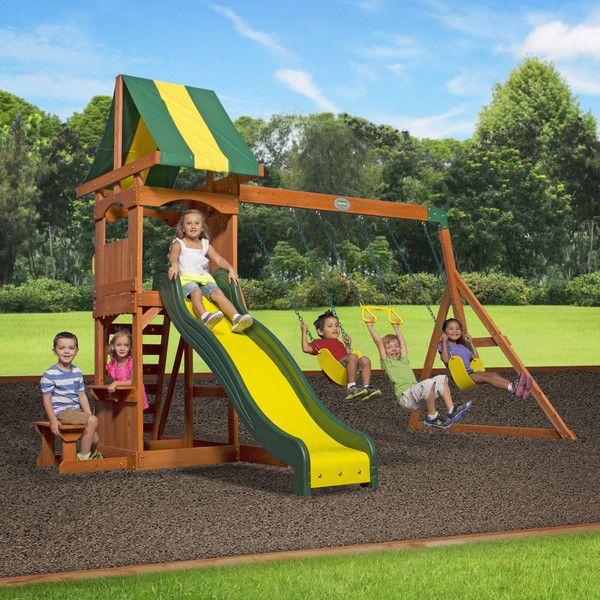 Weston All Cedar Swing Set   Cedar swing sets, Backyard ...