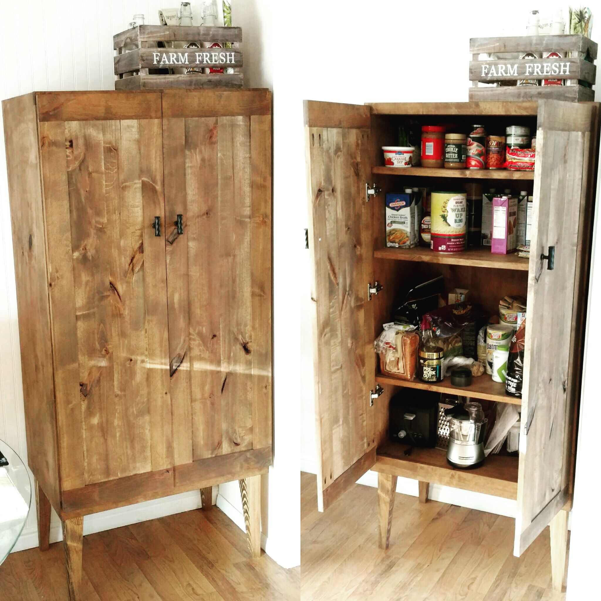 Kitchen Cabinets Stand Alone: Knotty Alder Stand Alone Foot Storage Pantry By A&R