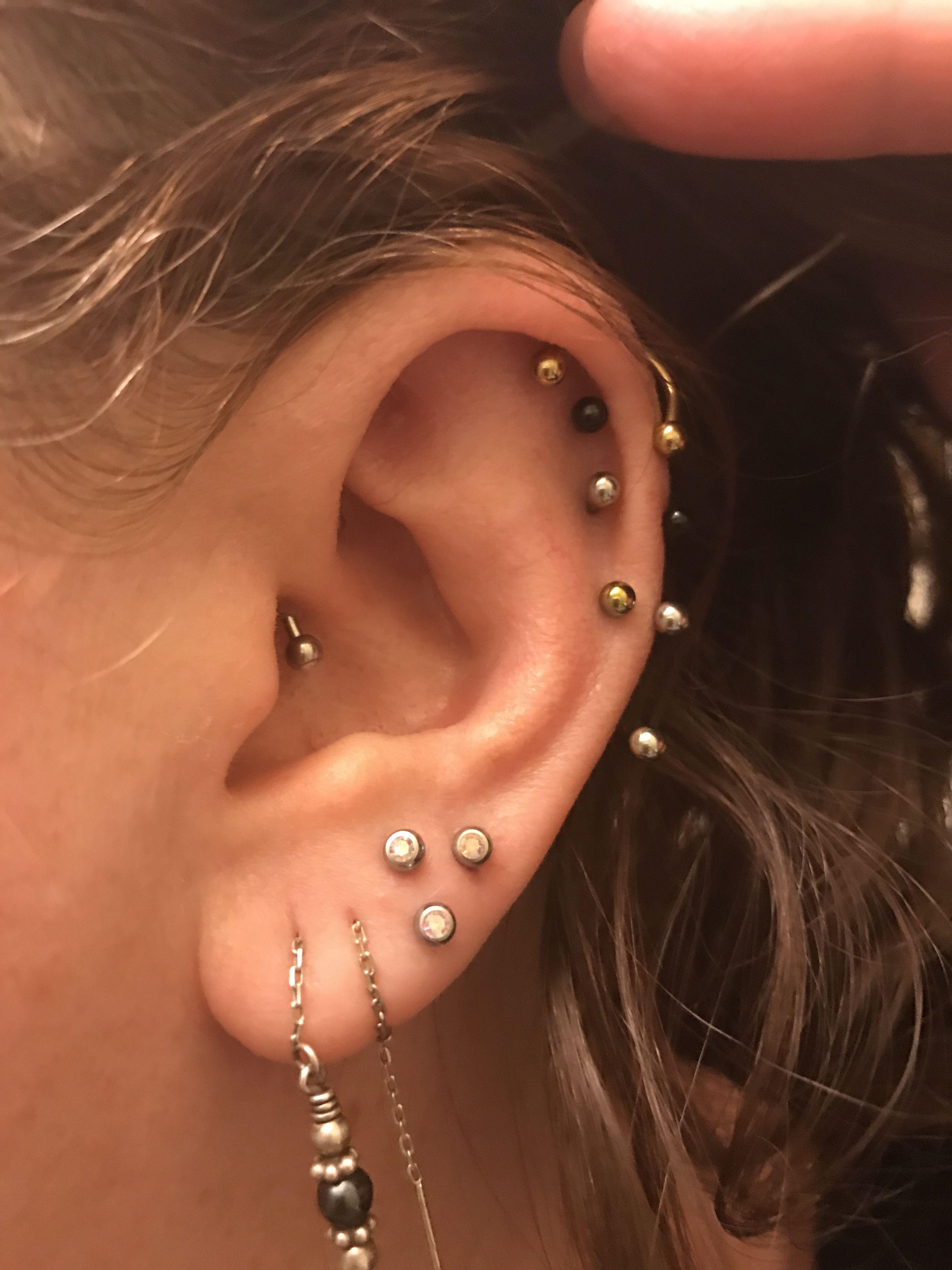 Daith 4x Anti Helix Double Lobe Triple Lobe Triangle Piercing