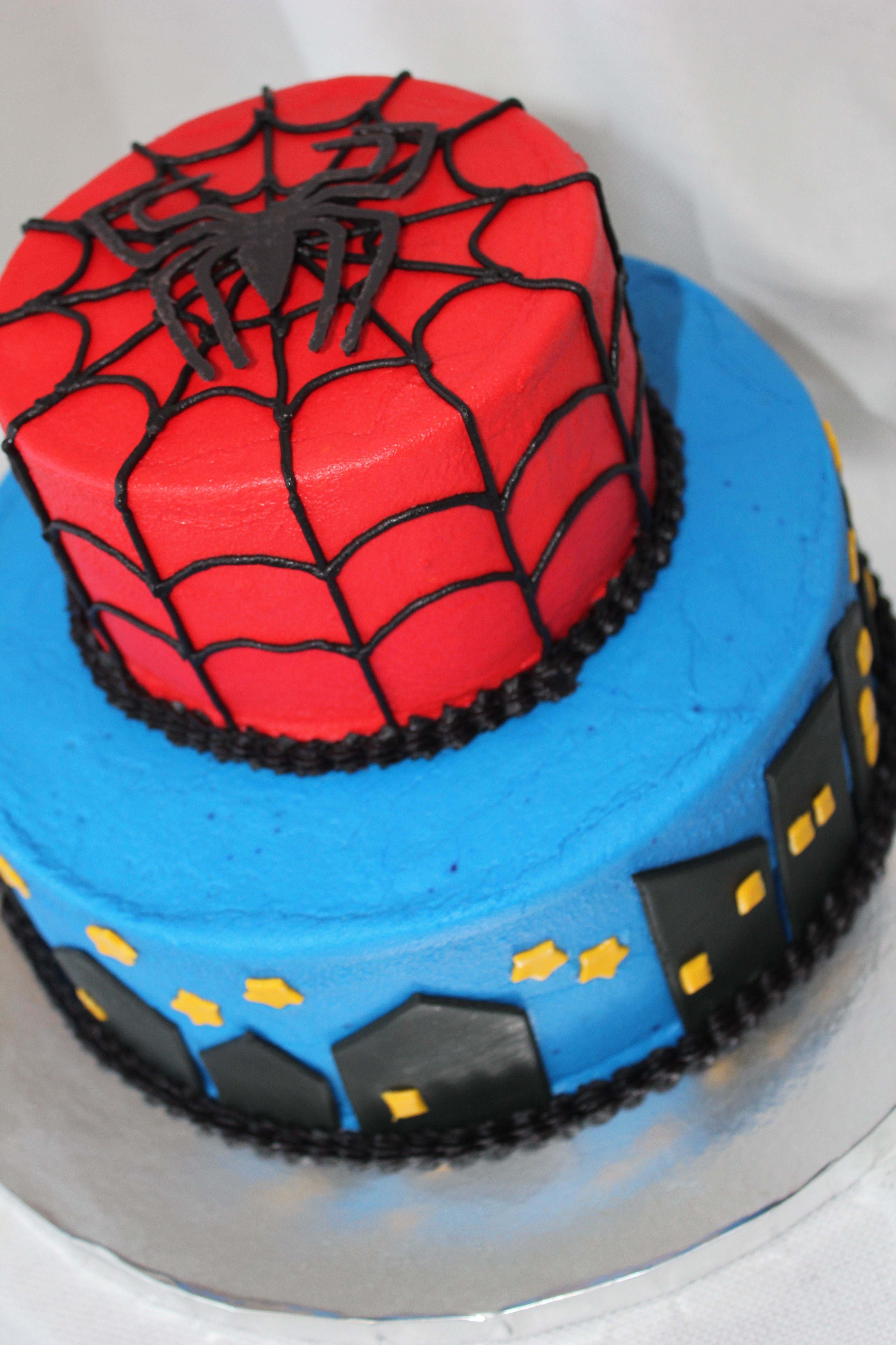 Pleasant Spiderman Cake Made From Buttercream With Fondant And Chocolate Funny Birthday Cards Online Inifofree Goldxyz