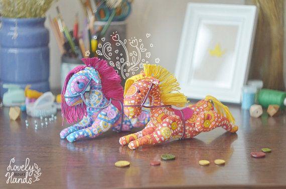 Soft toy Stuffed toy Textile horse Orange by IrinasLovelyHands, $35.00